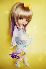 Miki - Pullip Papin (-Poison Girl-) Tags: new white girl hair doll dolls eyelashes purple body stripes pale lilac wig blonde groove pullip straight poison pullips bodies poisongirl obitsu junplanning papin rewigged obitsubody pullippapin sbhm
