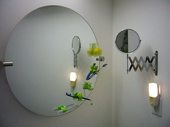 Round Mirrors (Heath & the B.L.T. boys) Tags: home modern mirror frog gadget nightlight circle