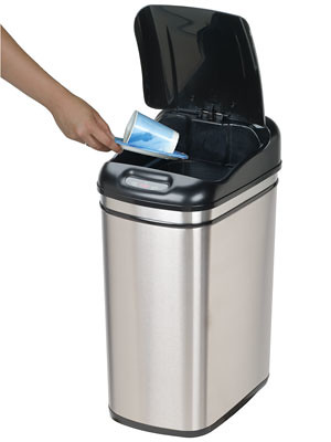 Touch-Free Trash Can
