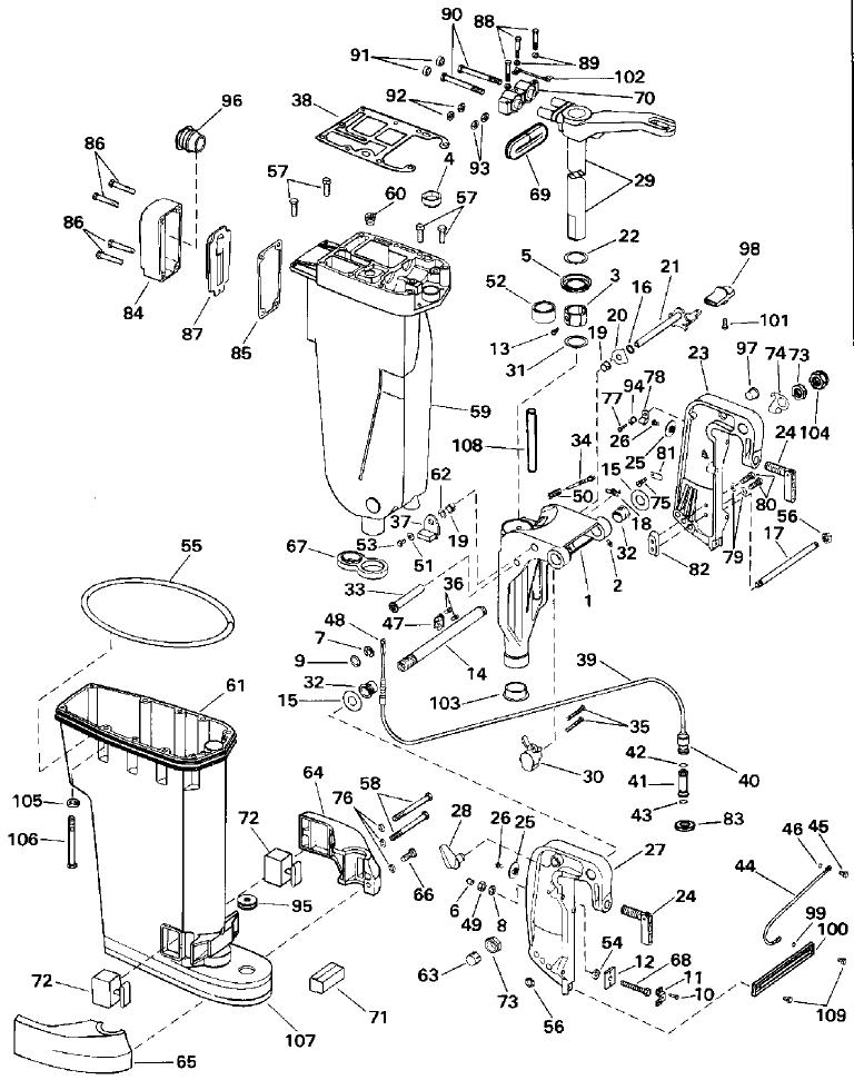Evinrude 48 Spl Manual Tilt