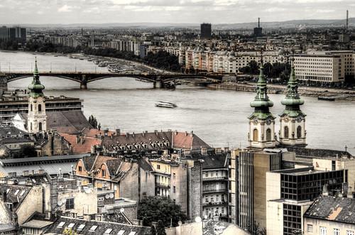 River Danubio. Budapest. Río Danubio