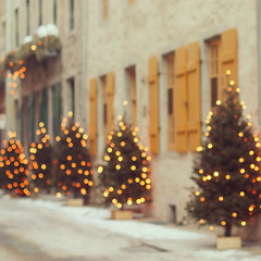 una sola cosa (Jackie Rueda) Tags: christmas street trees winter blur lights holidays bokeh explore christmastrees