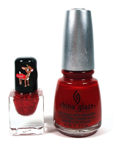 Rudolph Mini Polish vs China Glaze