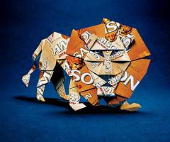 Origami création - Didier Boursin - Lion Samson