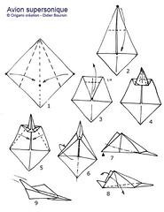Origami création - Didier Boursin - Diagramme avion supersonique