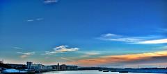 Barry Dock (1980blue) Tags: blue sunset sky cloud sun sunlight ice clouds sunrise grey dawn bright dusk gray barry midday barrydock barryisland