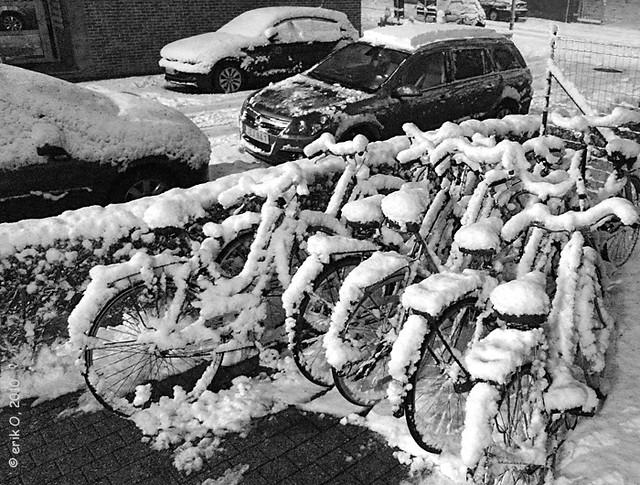 Winter-kot-fietsen
