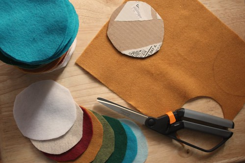 Step 1: Cut Out Felt Circles