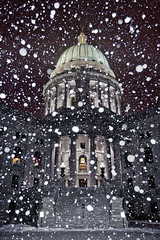 Capitol snow globe 2 (beinshitty) Tags: winter snow cold ice water weather wisconsin capitol madison blizzard capitolsquare capitoldome madison365