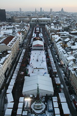 Brussels X-mas market from above