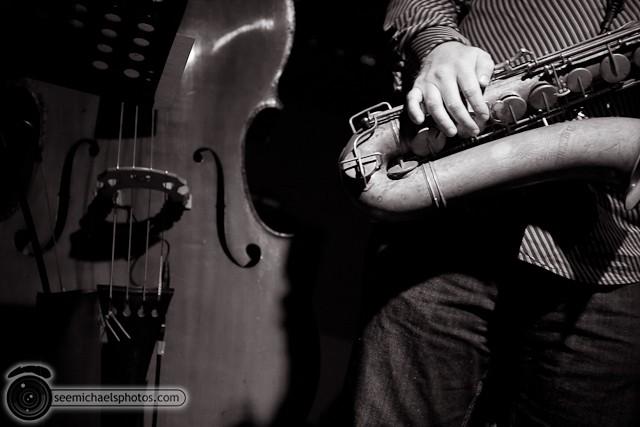 Jason Robinson Quintet at Dizzy's 121810 © Michael Klayman-011