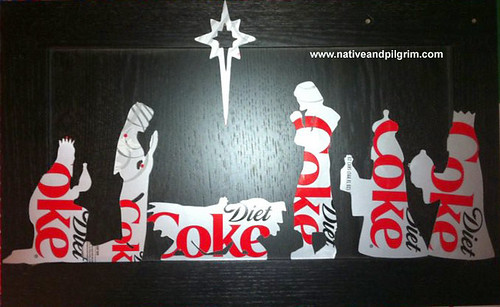 Diet Coke Nativity