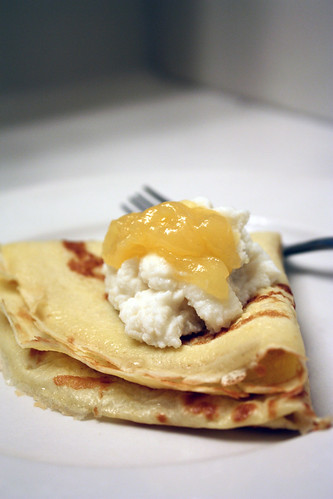 homemade crepes.