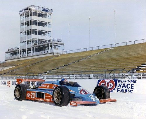 1982 Johncock STP Car in the snow