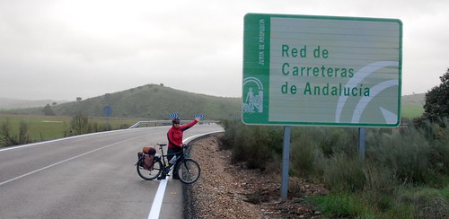 The border between Andalucia and the Extremadura