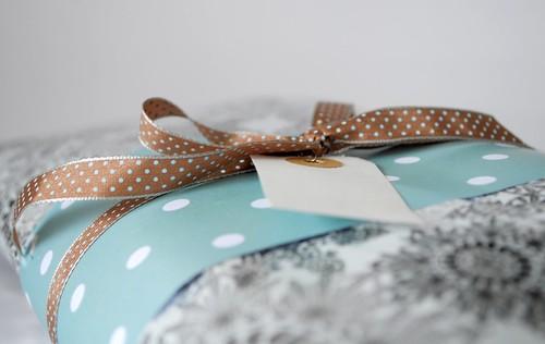 Polka dots gift wrap
