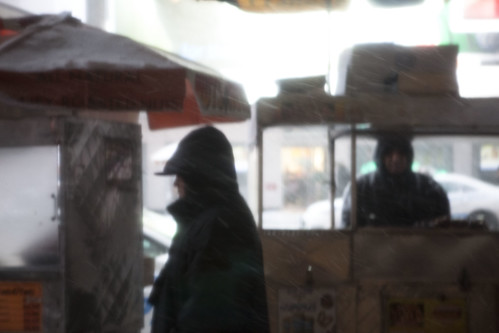 Food Vendors, Times Square - New York Snowstorm 2010