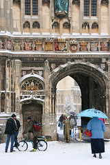 Christchurch Gate, Canterbury Cathedral, snow (Jim_Higham) Tags: christmas winter england white snow cold church kent europe december calendar cathedral snowy freezing eu frosty canterbury card icy thick anglican 2010