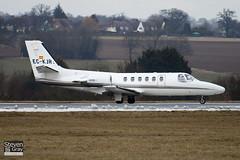 EC-KJR - 551-0412 - Nord Jet Airlines - Cessna 551 Citation II SP - Luton - 100224 - Steven Gray - IMG_7284