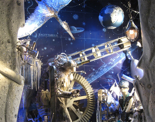 Astronomy window at Bergdorf Goodman