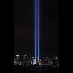 Tribute of Light (Wils 888) Tags: nyc newyorkcity longexposure ny newyork night lens nikon downtown wtc nikkor 2010 18200mm manhanttan tributeoflight d300s nikond300s