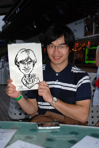 Caricature live sketching for VISA Beach Party 2010 -24
