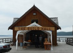 The Guild Hall, Sointula, Malcolm Island, B.C. (orbora78) Tags: shop britishcolumbia crafts arts deck pottery railings carvings sointula malcolmisland