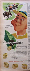 Murraymints advert, 1955 (mikeyashworth) Tags: 1955 advert everybodys murraymints everybodysweekly mikeashworthcollection