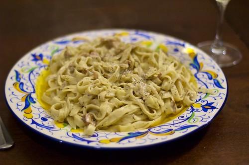 shroom cream pasta