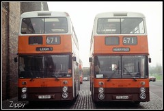 A Matching Pair (Zippy's Revenge) Tags: transport depot leyland fleetline atherton greatermanchester 6952 6947 gmbuses howebridge northerncounties lancashireunited ncme yte589v yte584v