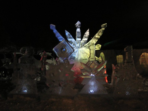 Ice sculpture at Evergreen Lake House