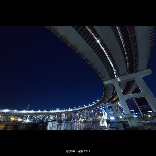 Loop Bridge at Night, Shibaura, Tokyo