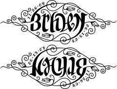 """""""Bryden"""" & """"Kayle"""" Ambigram"""