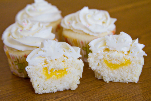 Lemon Cupcakes with Lemon Curd and Lemon Buttercream Frosting - 11