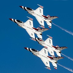 T-Birds (airplaneguy38) Tags: f16 thunderbirds usaf nellisafb aviationnation usafthunderbirds
