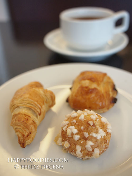 Choquette, mini Croissont and mini Pain au Chocolat