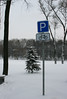 mini P (Glebkach) Tags: winter snow sign parking cycle p minsk imagespace:hasdirection=false