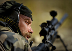 Sniper Security (U.S. Central Command (CENTCOM)) Tags: afghanistan tagabdistrict isafspecialoperationsforces fobkutschbach anpprc tagabvalley afghanrmt buildingacheckpointintagabvalley snipers minigun uscentralcommand centcom