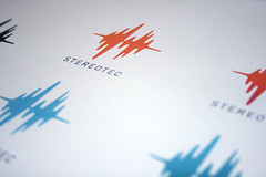 Stereotec - Logo color (thisisramzi) Tags: blackandwhite music color illustration logo switzerland design graphicdesign blackwhite swiss identity businesscards sound portfolio brand logos branding collateral ramzi letterhead logolounge behance printedwork mesaddek stereotec dinpro