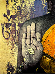 VITARKA MUDRA (manumint-[BUSY]) Tags: india texture hands buddha chest buddhism tip knowledge thumb layers teaching gesture enlightenment dharma sarnath mudra ommanipadmehum uttarpradesh significance forefinger oneofthe4mainbuddhistpilgrimagedestinations  buddhafirsttaughtthedharmahere neartocityofvaranasi