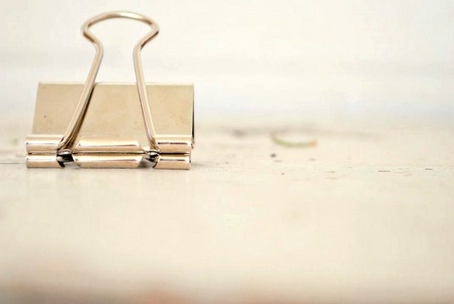ordinary beauty: binder clip