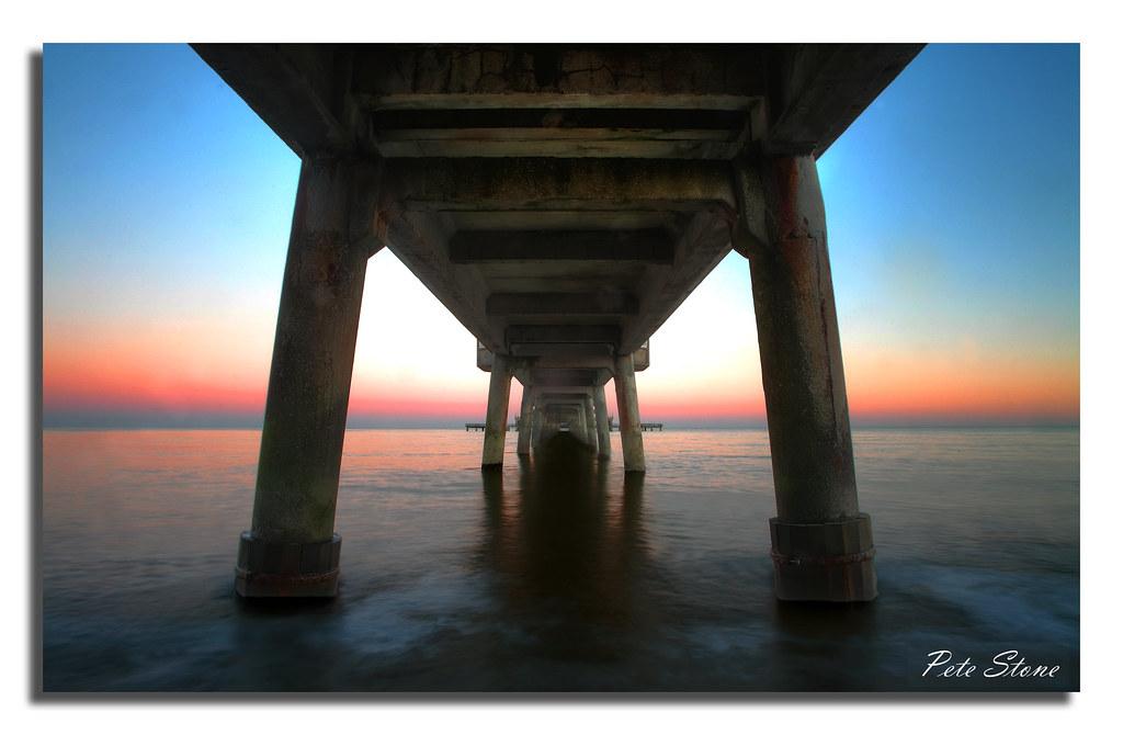 Deal pier at dusk ..........