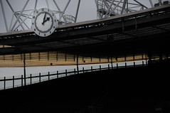 arsenal stadium: sunset under the clock end (DCox Photox) Tags: stadium emirates arsenal premiership clockend