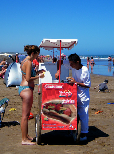 Hotdogs on the Beach in Necochea by katiemetz, on Flickr