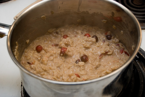 Almost cooked oatmeal