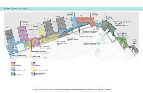 Mapa do Brooklyn Bridge Park