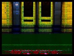 Pixel palace. (Sascha Unger) Tags: wedding urban berlin art architecture germany design angle centre lounge elevator kacheln fliesen perspective center stadt sascha expressionism architektur photostudio townhall bauhaus rathaus mitte foyer 30s perspektive aufzug multiexposure iphone 30er expressionismus müllerstrasse fxphotostudio sascha2010 saschaunger decim8
