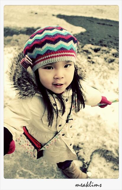 freezing cold walk