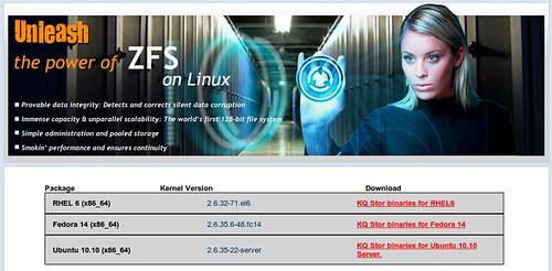 ZFS on Linux binárisok RHEL, Fedora Ubuntu rendszerekre