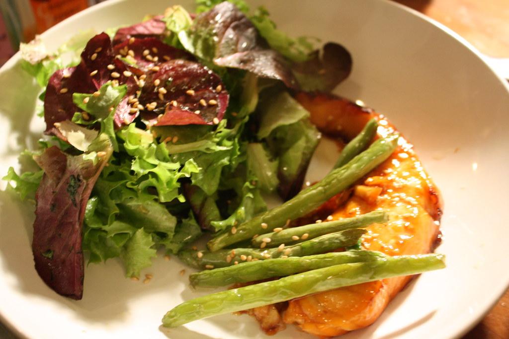 Roasted Asian style salmon